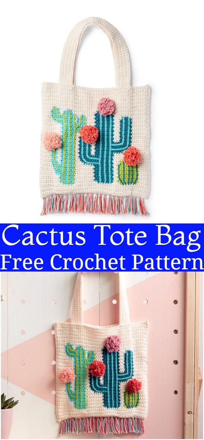 Crochet Cactus Tote