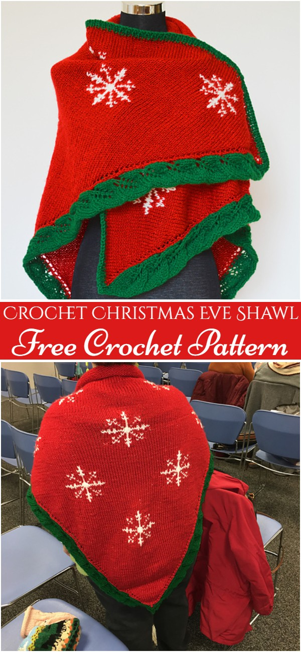 Crochet Christmas Eve Shawl