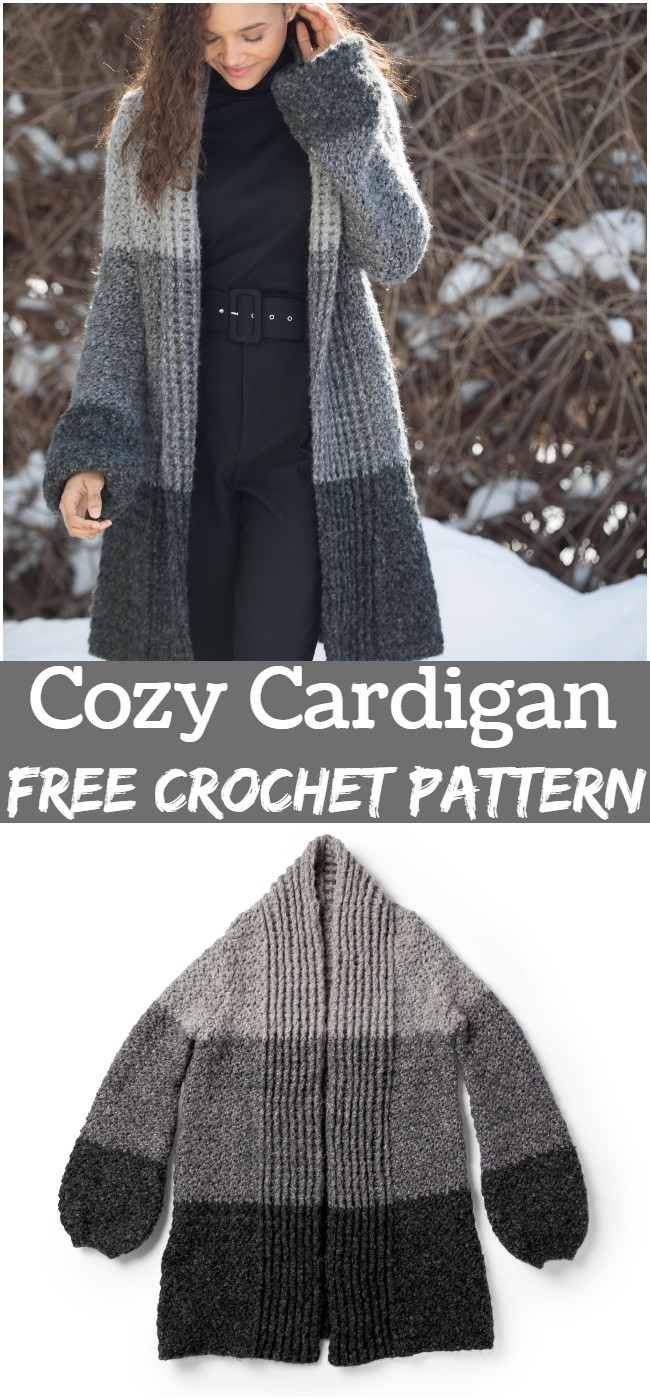 Crochet Cozy Cardigan Pattern