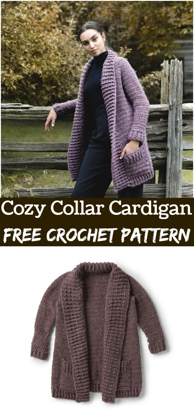 Crochet Cozy Collar Cardigan Pattern