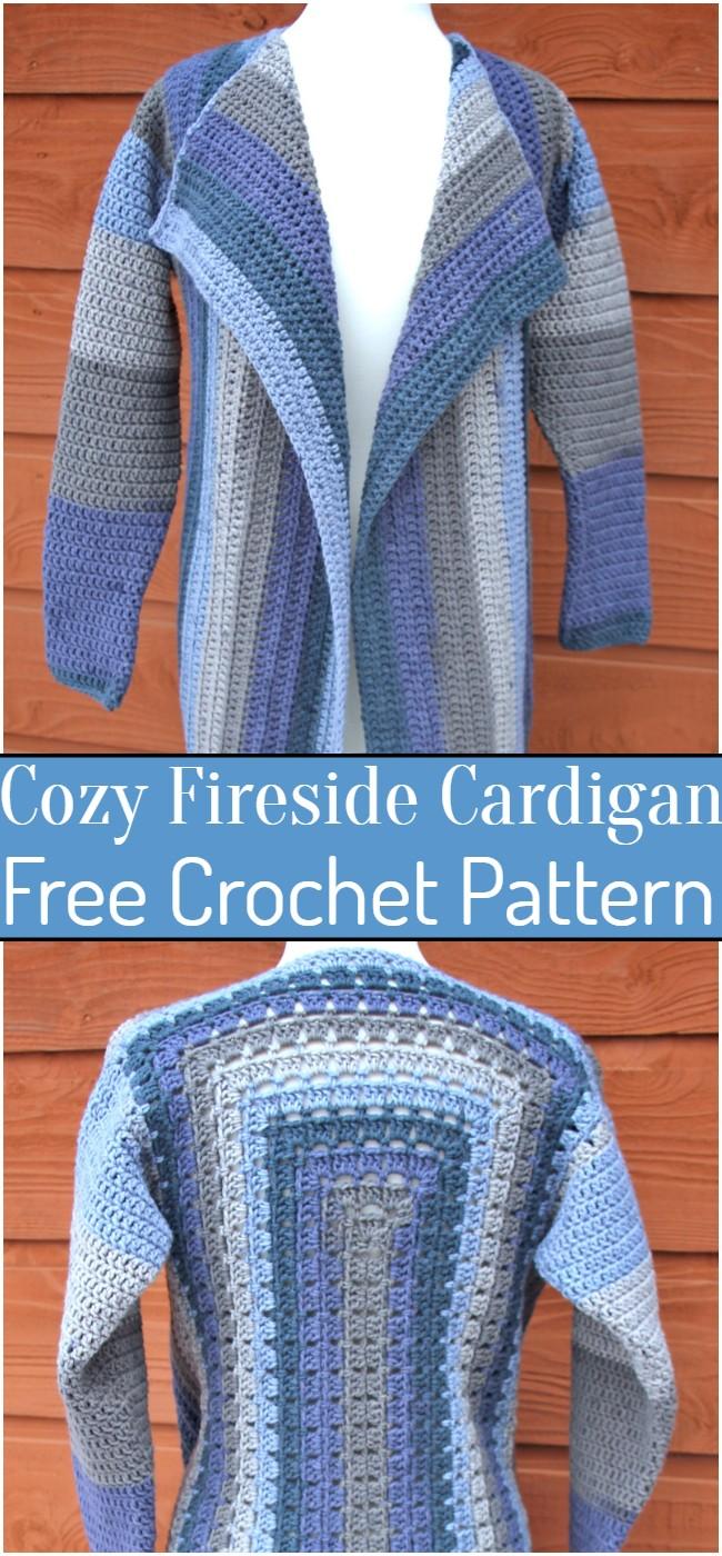 Crochet Cozy Fireside Cardigan Pattern