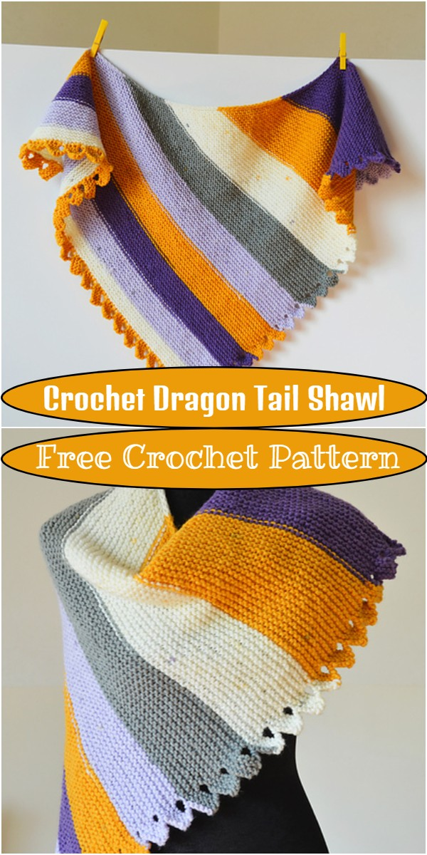 Crochet Dragon Tail Shawl
