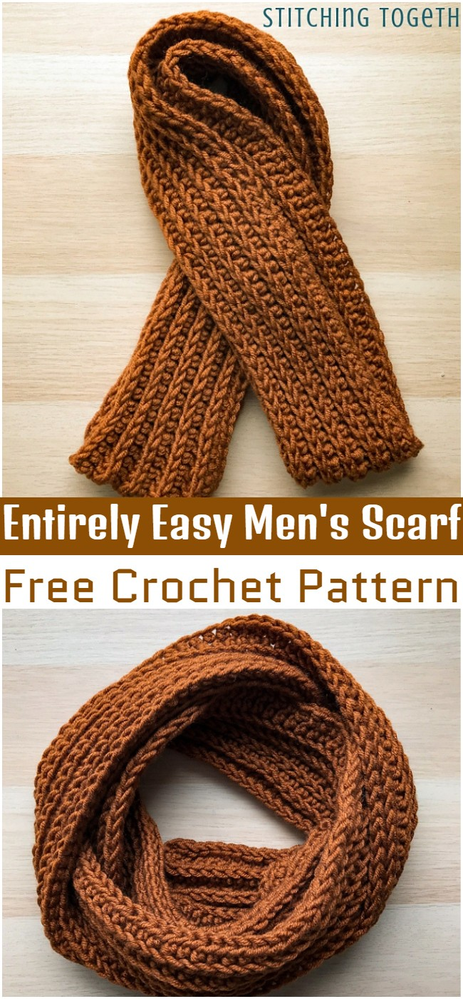 Crochet Entirely Easy Men's Scarf Pattern