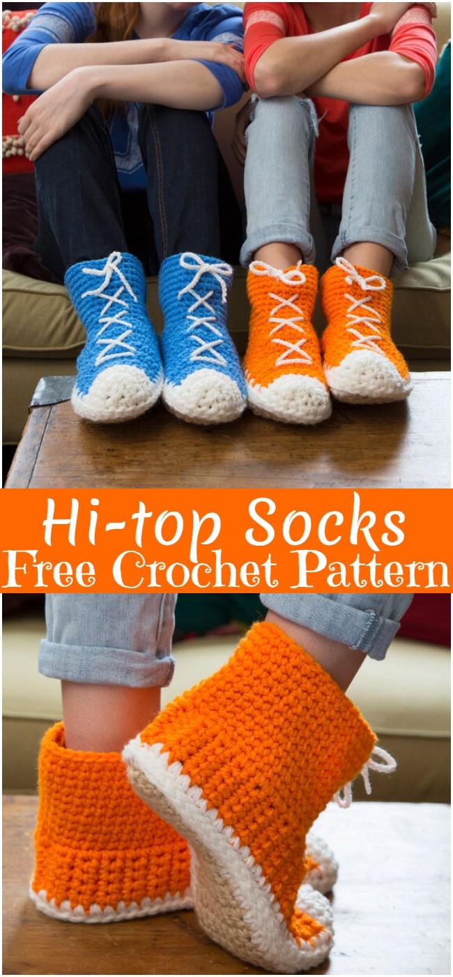 Crochet Hi-top Socks Pattern