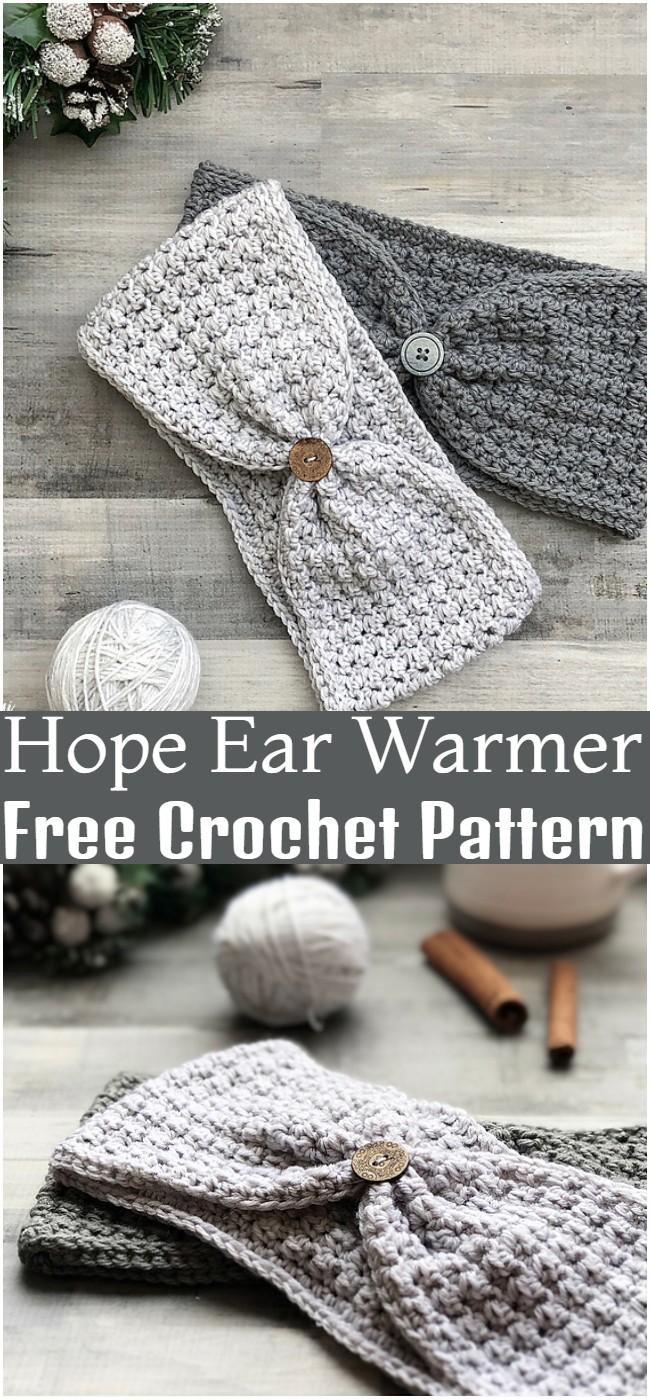 Crochet Hope Ear Warmer Pattern