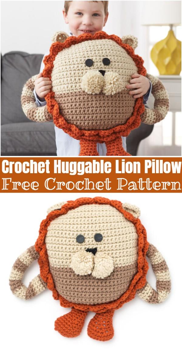 Crochet Huggable Lion Pillow