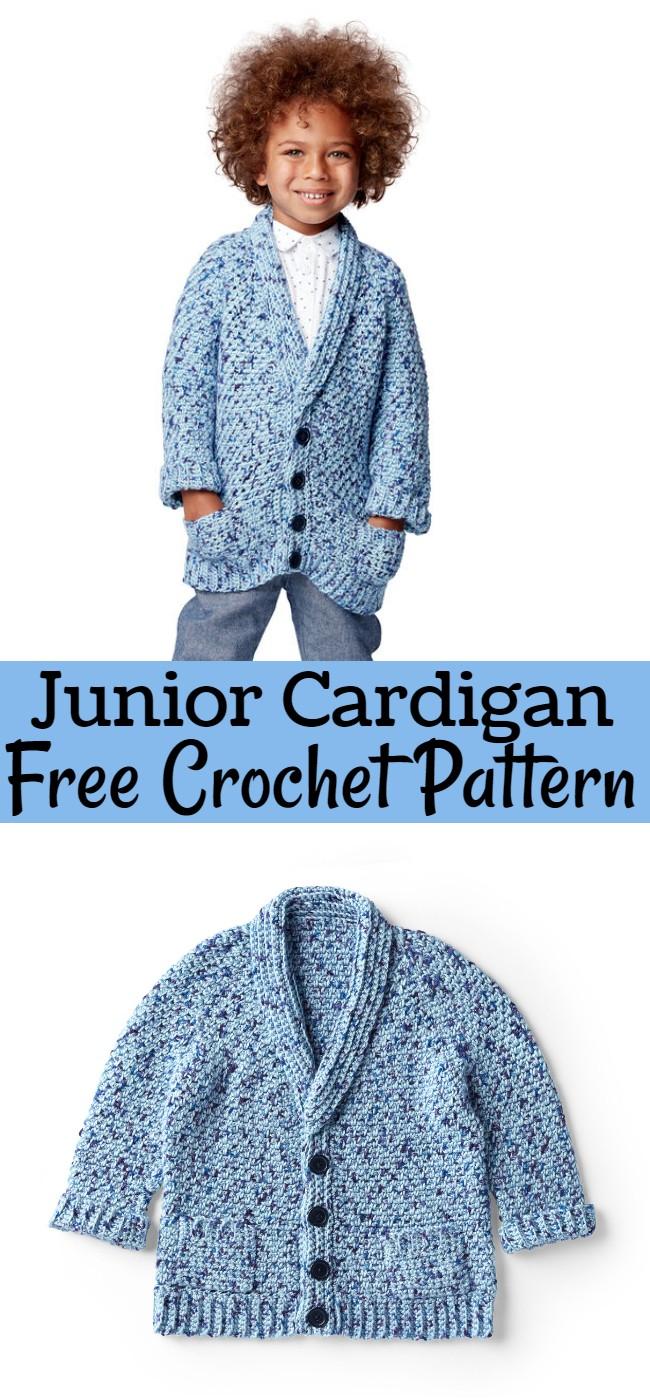 Crochet Junior Cardigan Pattern