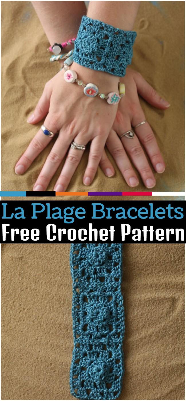 Crochet La Plage Bracelets Pattern