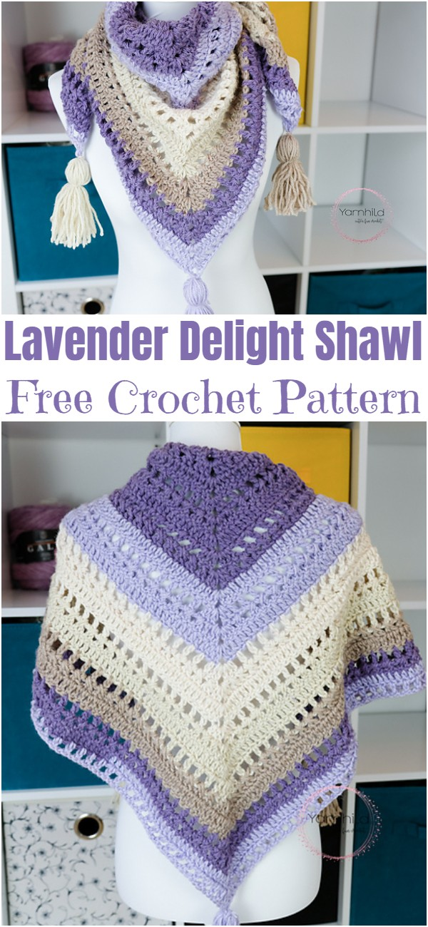 Crochet Lavender Delight Shawl