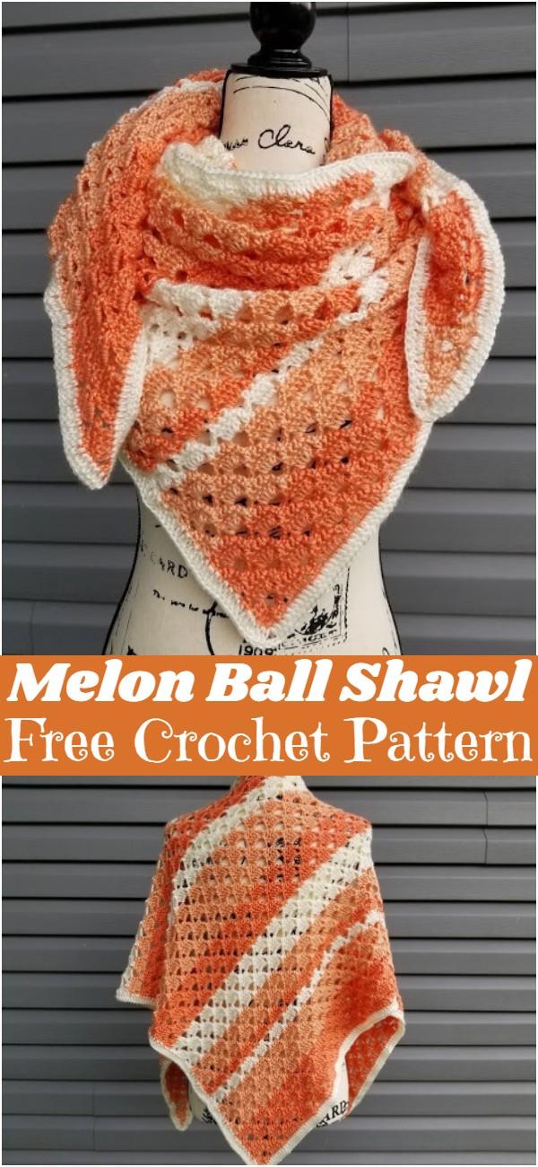 Crochet Melon Ball Shawl
