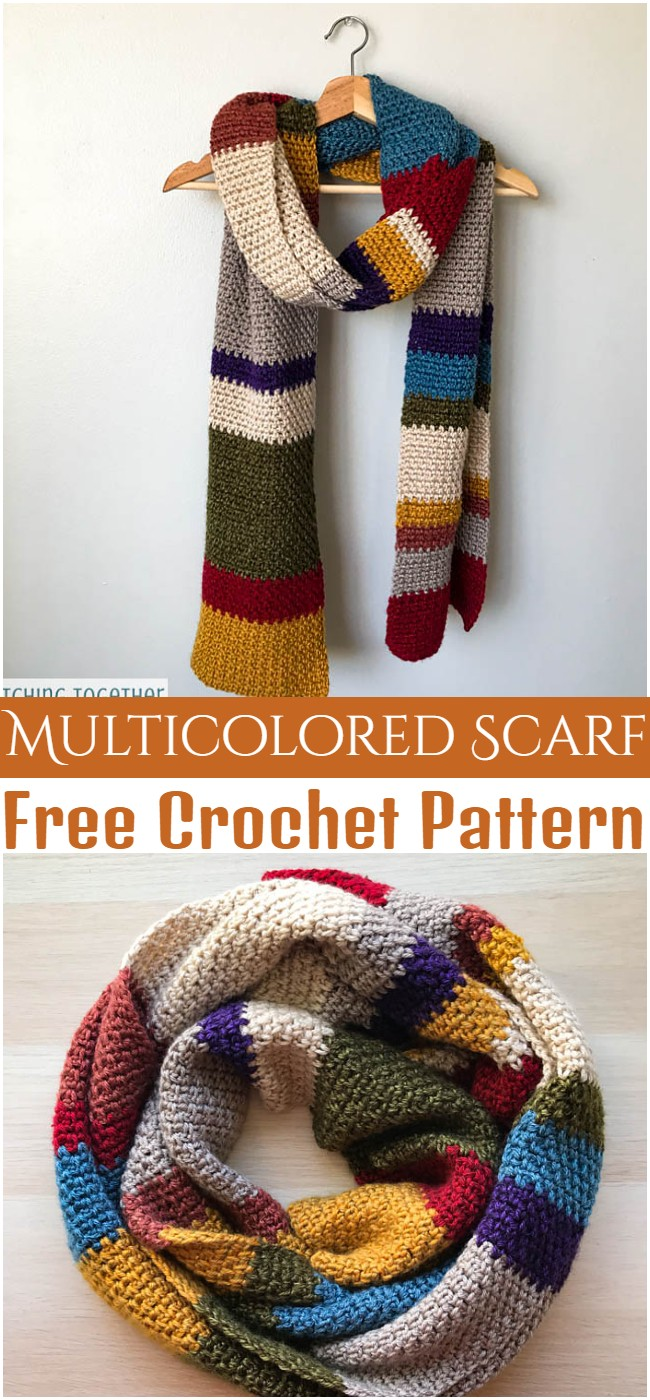 Crochet Multicolored Scarf Pattern