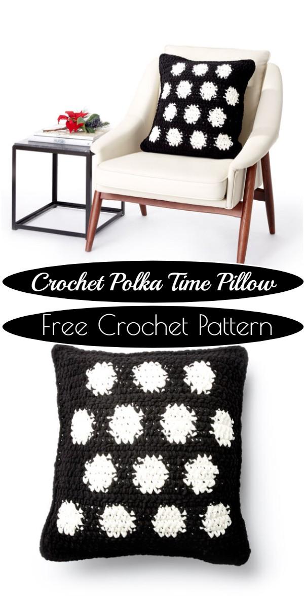 Crochet Polka Time Pillow