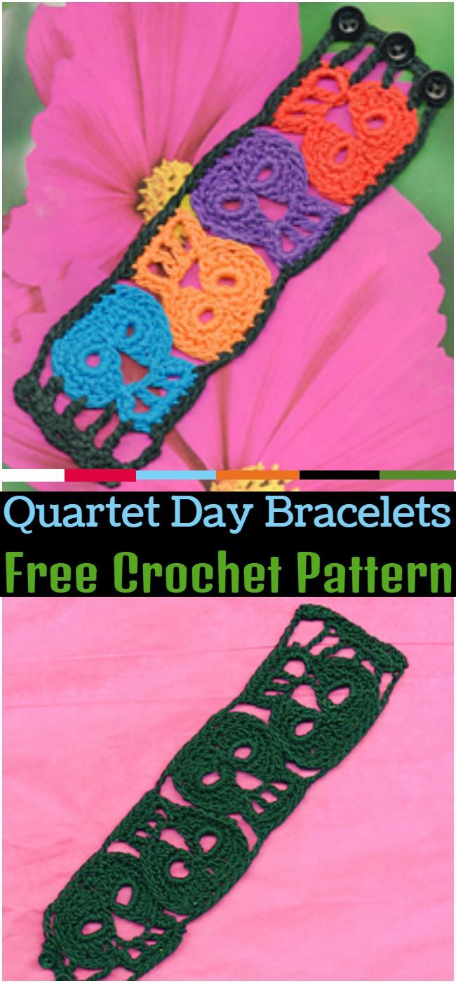 Crochet Quartet Day Bracelets Pattern