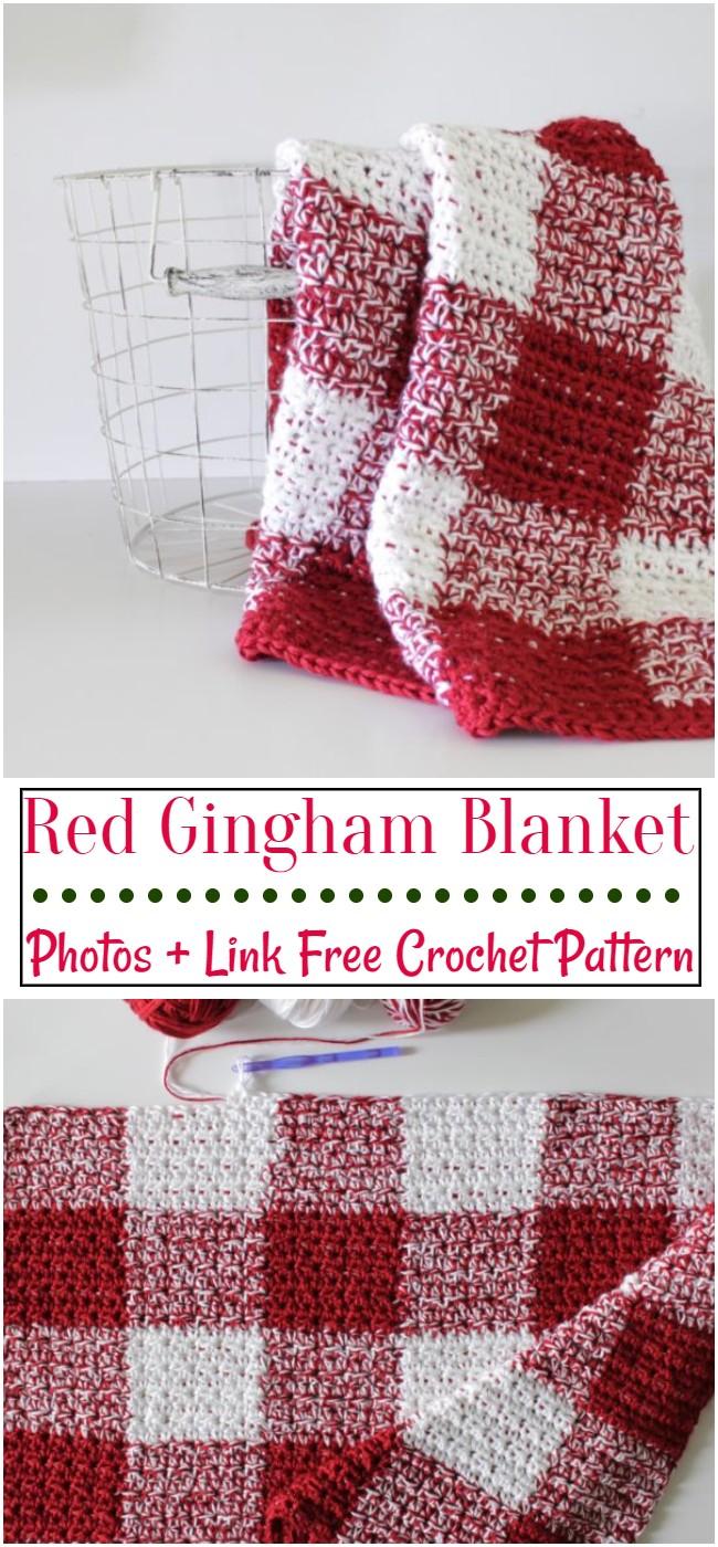 Red Gingham Blanket Pattern