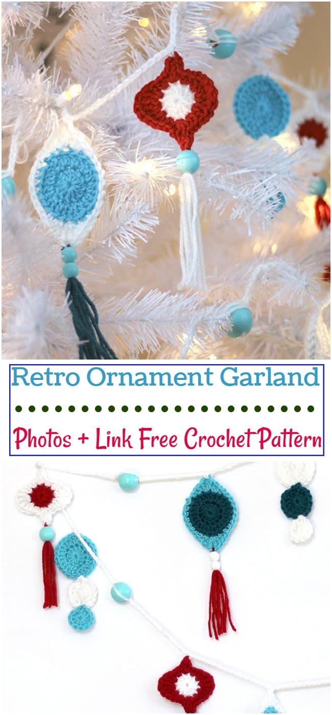 Crochet Retro Ornament Garland Pattern