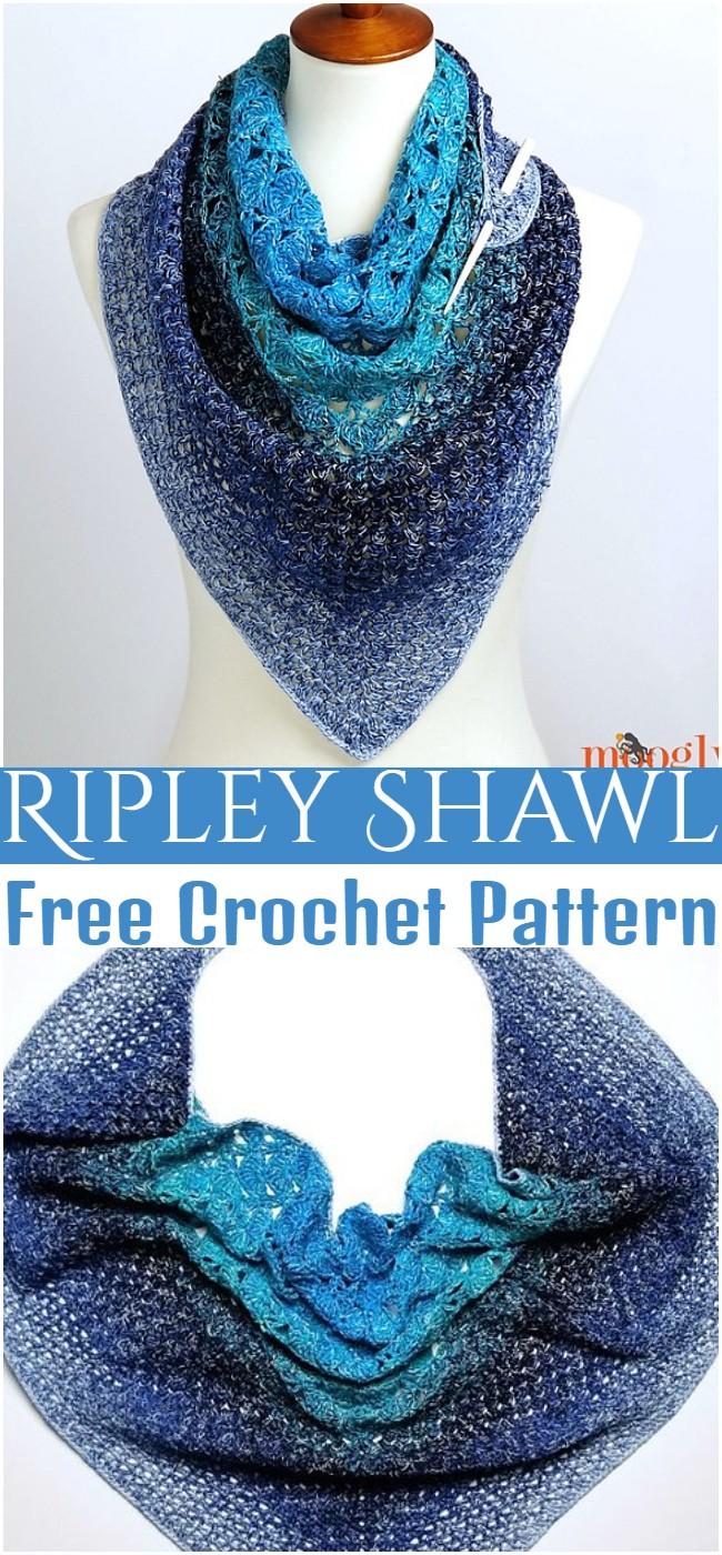 Crochet Ripley Shawl Pattern