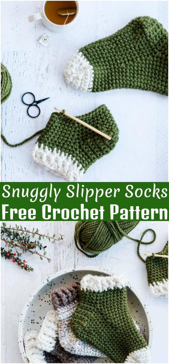 Crochet Snuggly Slipper Socks Pattern