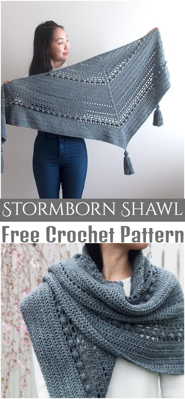 Crochet Stormborn Shawl Pattern
