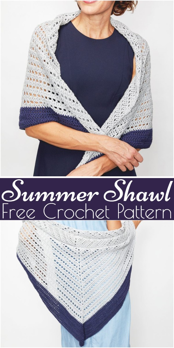 Crochet Summer Shawl Pattern