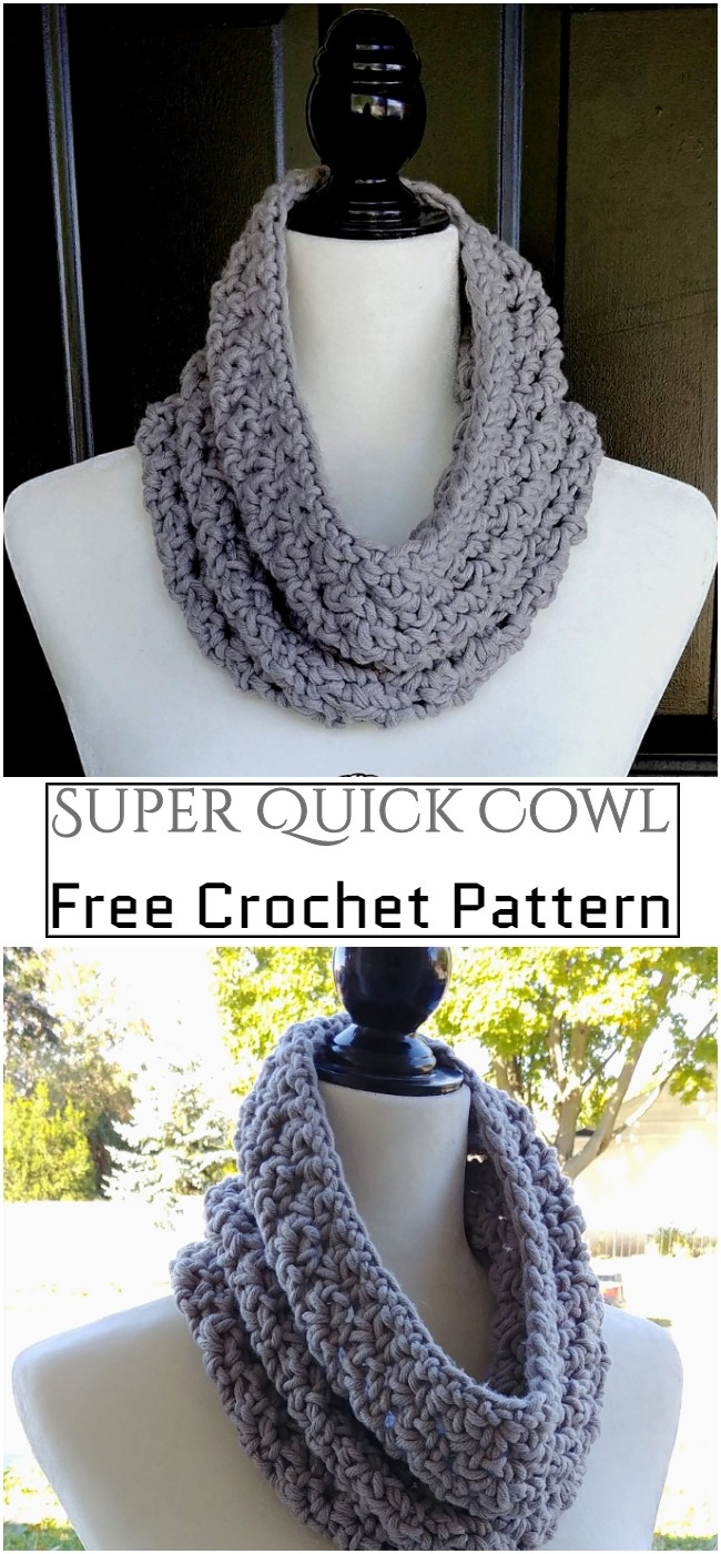 Crochet Super Quick Cowl Pattern