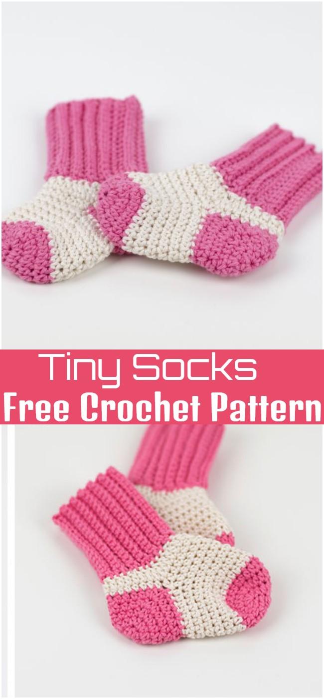 Crochet Tiny Socks Pattern