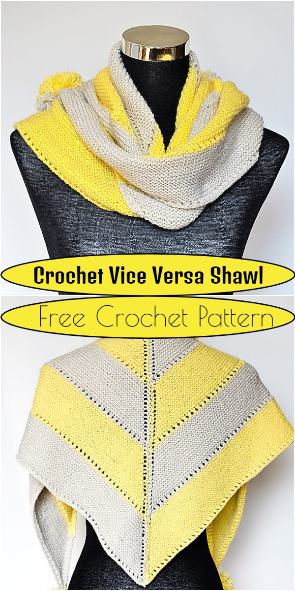 Crochet Vice Versa Shawl