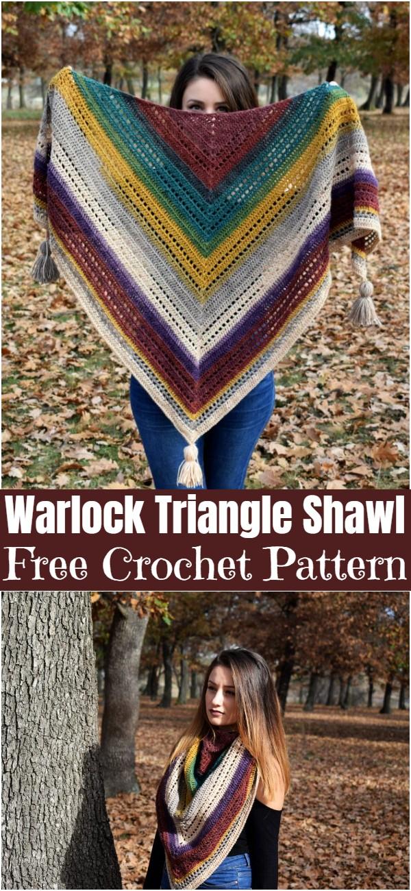 Crochet Warlock Triangle Shawl