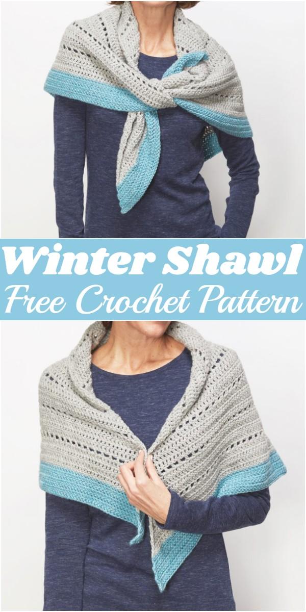 Crochet Winter Shawl Pattern