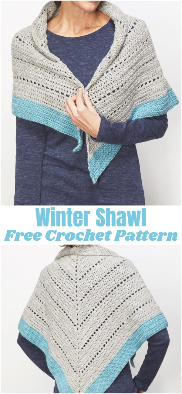 Crochet Winter Shawl Pattern