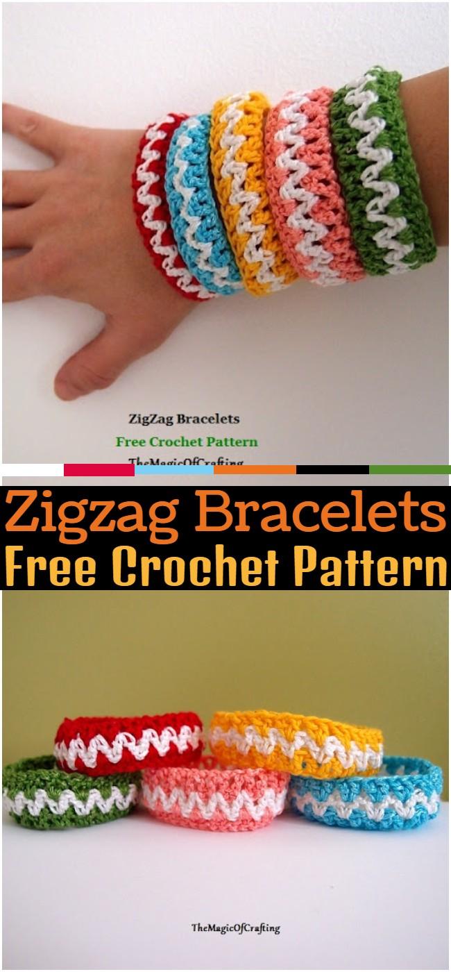 Crochet Zigzag Bracelets Pattern
