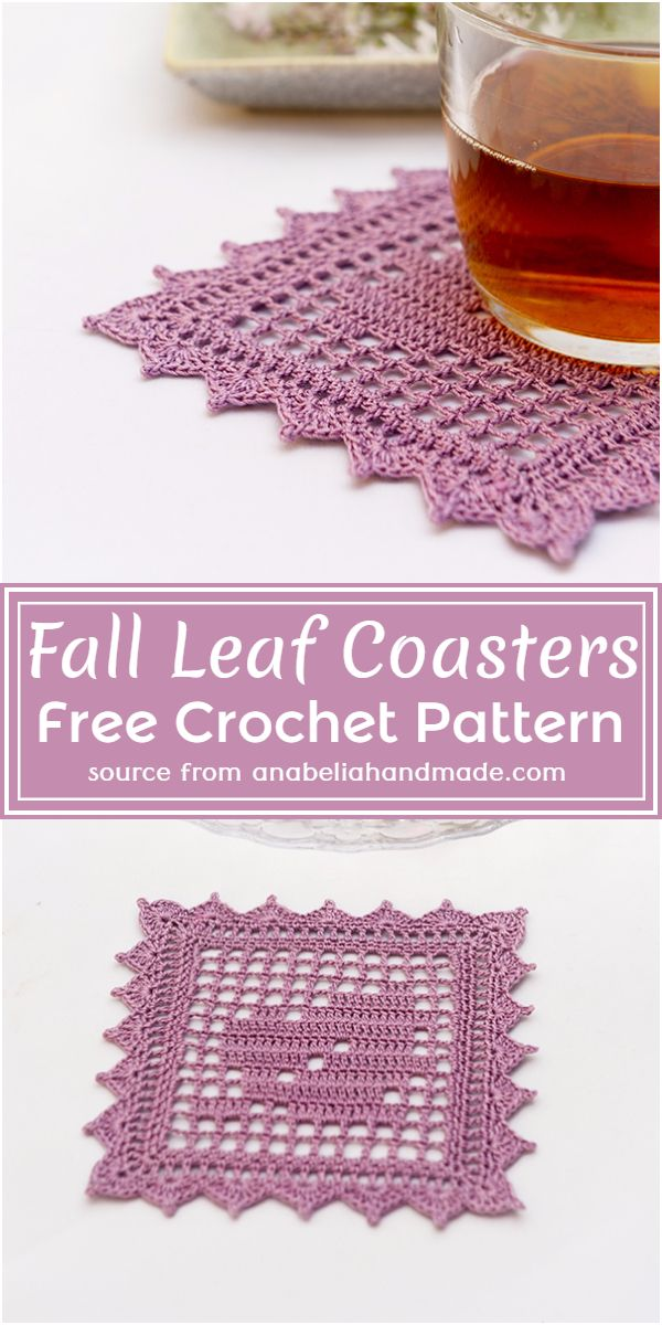 Fall Leaf Coasters Crochet Pattern