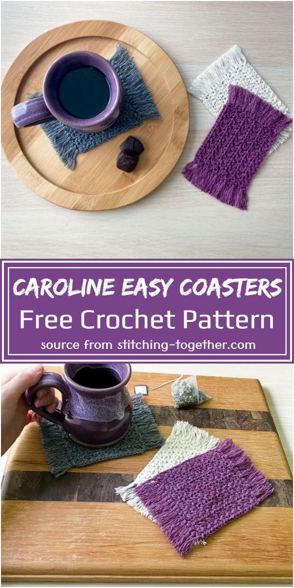 Free Caroline Easy Crochet Coasters Pattern