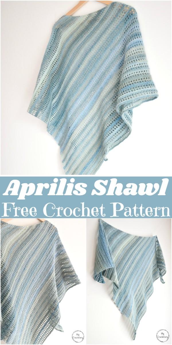 Free Crochet Aprilis Shawl Pattern