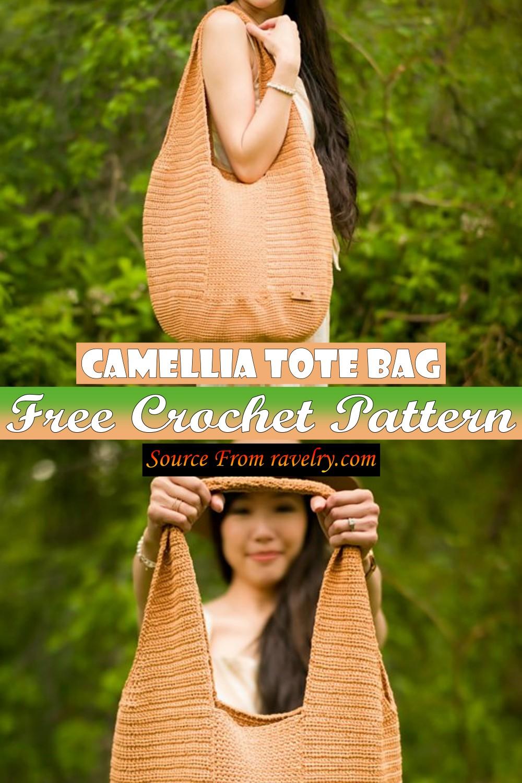 Free Crochet Camellia Tote Bag Pattern