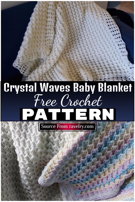 Free Crochet Crystal Waves Baby Blanket