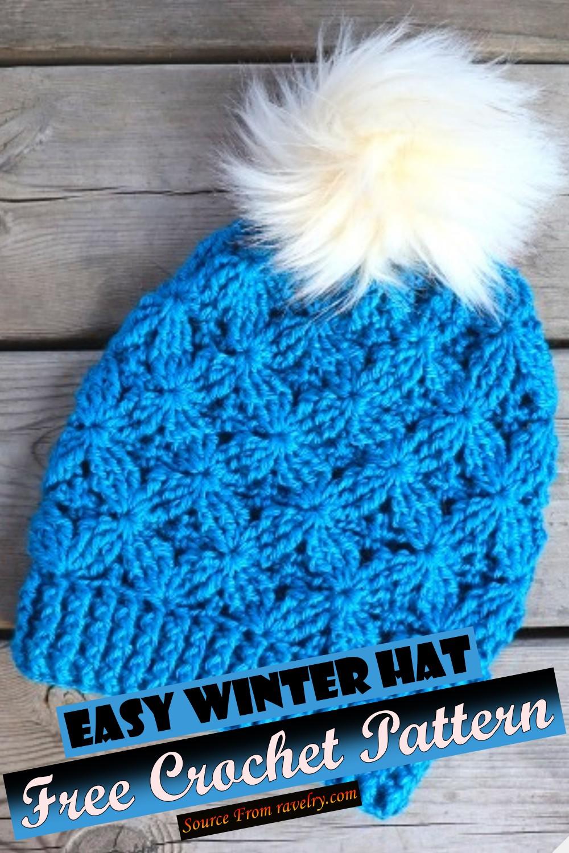 Free Crochet Easy Winter Hat Pattern