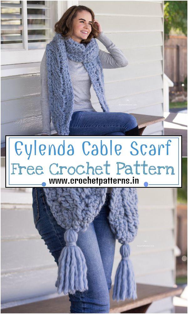 Free Crochet Eylenda Cable Scarf Pattern