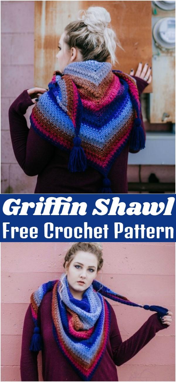 Free Crochet Griffin Shawl Pattern