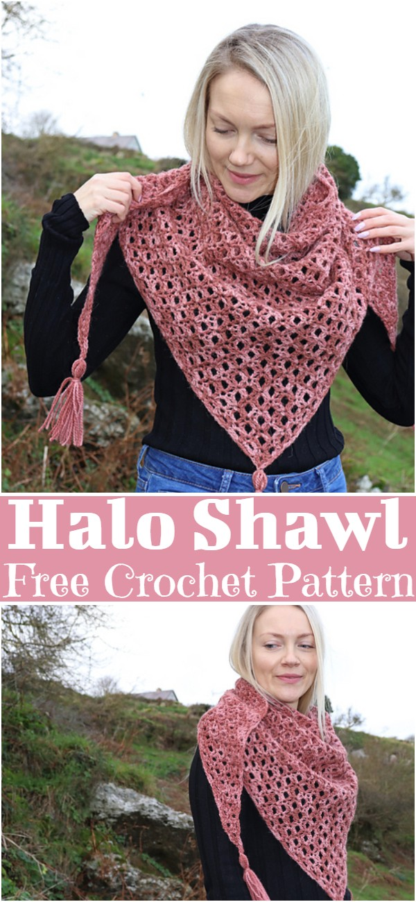 Free Crochet Halo Shawl Pattern
