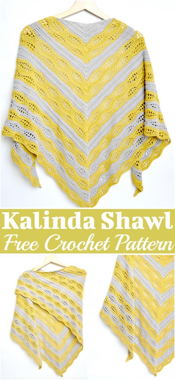 Free Crochet Kalinda Shawl Pattern