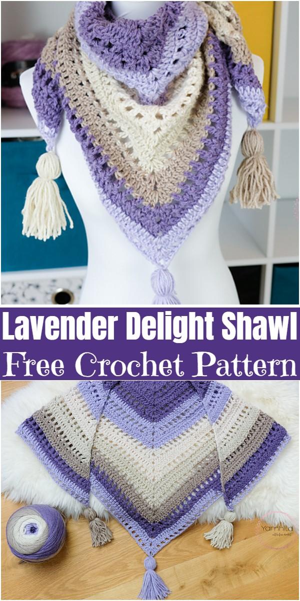 Free Crochet Lavender Delight Shawl Pattern