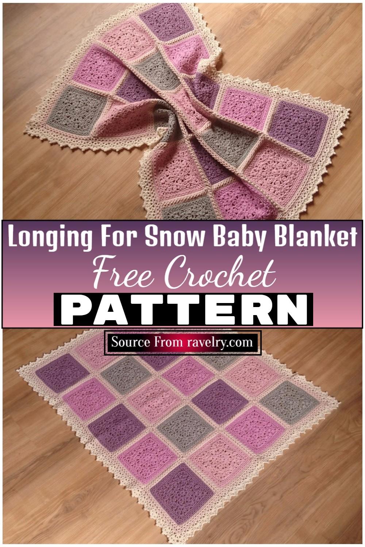 Free Crochet Longing For Snow Baby Blanket