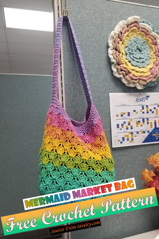 Free Crochet Mermaid Market Bag Pattern