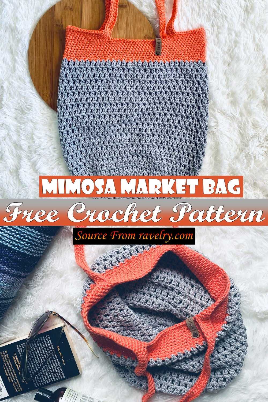 Free Crochet Mimosa Market Bag Pattern