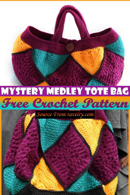 Free Crochet Mystery Medley Tote Bag Pattern
