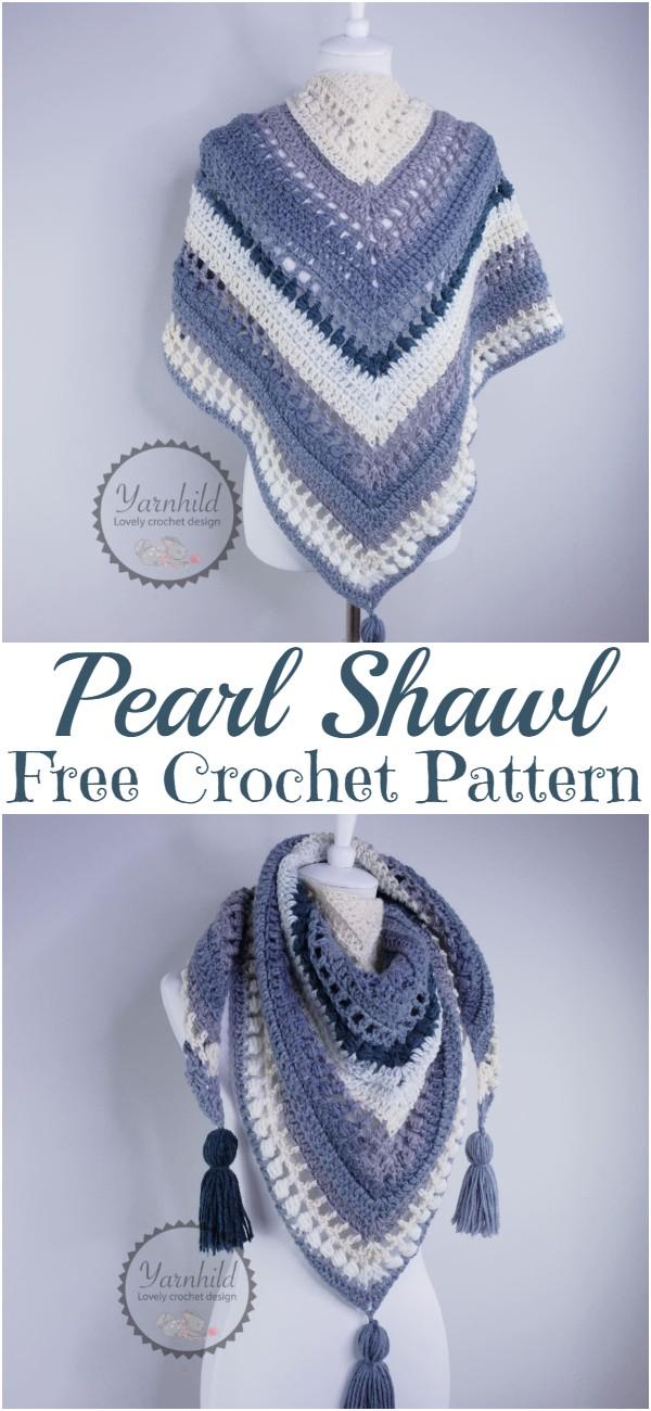 Free Crochet Pearl Shawl Pattern