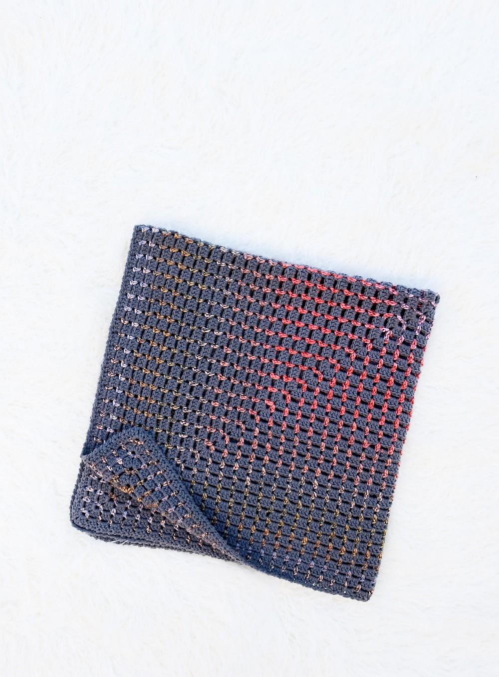 Free Crochet Prism Block Stitch Blanket