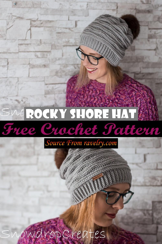 Free Crochet Rocky Shore Hat Pattern