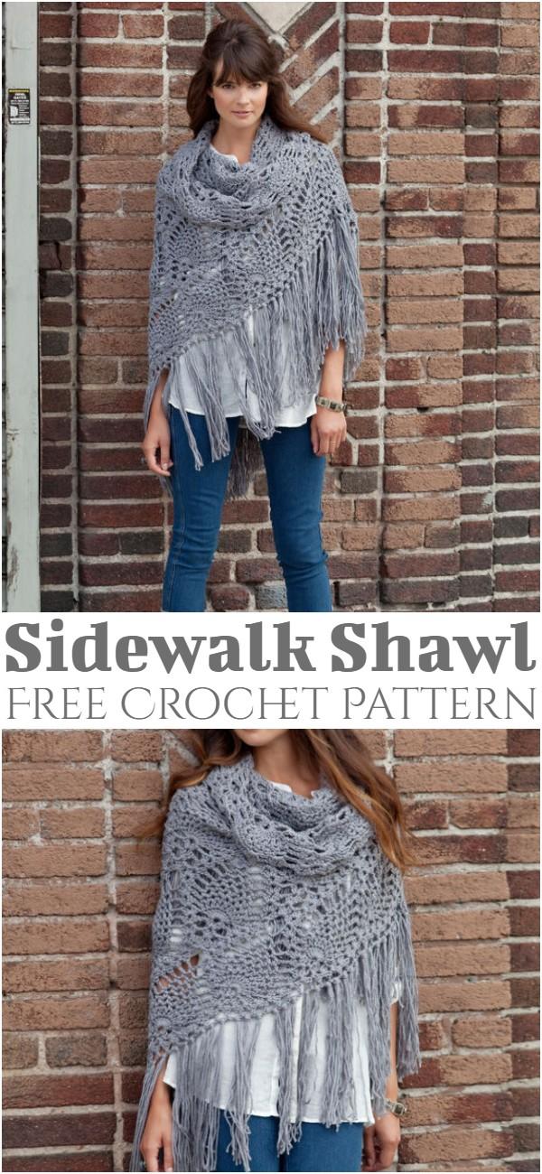 Free Crochet Sidewalk Shawl