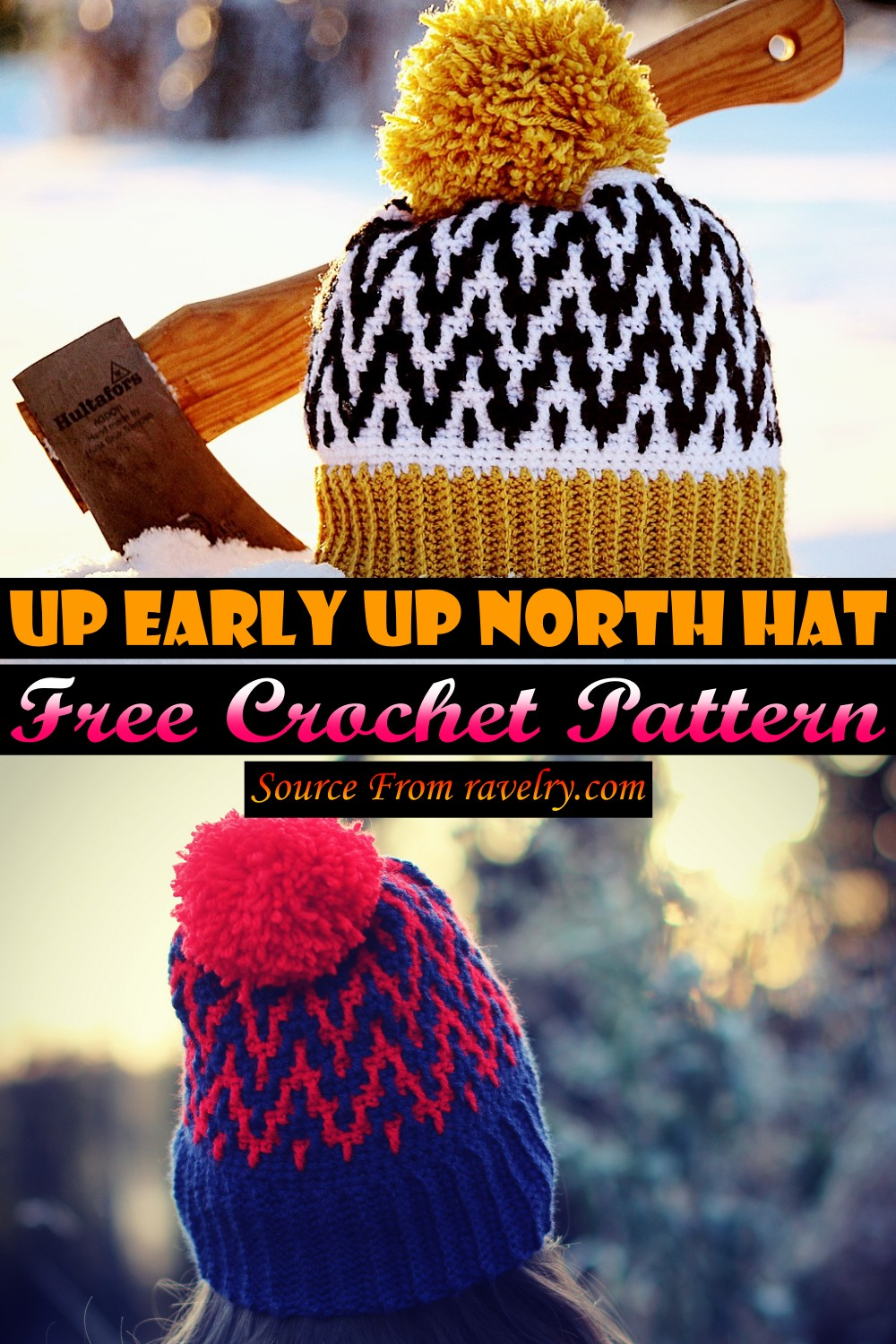 Free Crochet Up Early Up North Hat Pattern